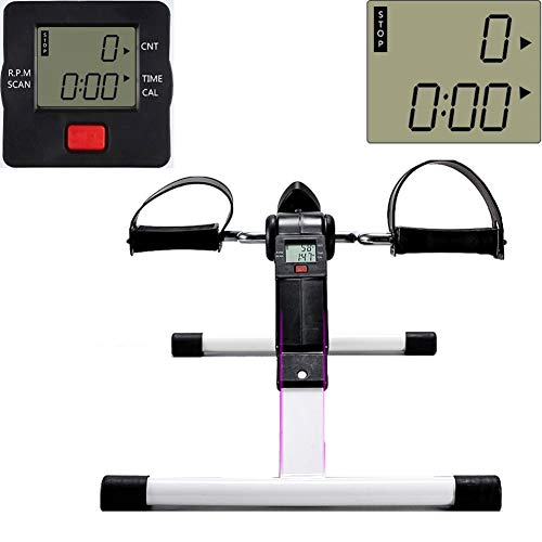 Mini bicicleta estática con pantalla digital, ejercitador d