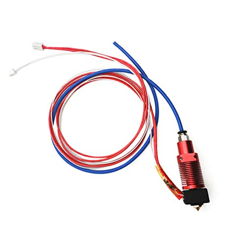3D Printer Extruder Hot End Part, DIY Hotend 0.4mm Nozzle 24V 40W Heater with PTFE Bowden Tubing for Creality 3D CR-10S Pro with Silicone Boots