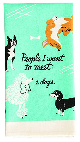 Blue Q People To Meet, Dogs Dish Towel