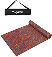 Yogarise Anti Skid and Durable Multicolour Yoga Mat for Home Gym and Outdoor Workout with Free Carrying Bag (Made in India)