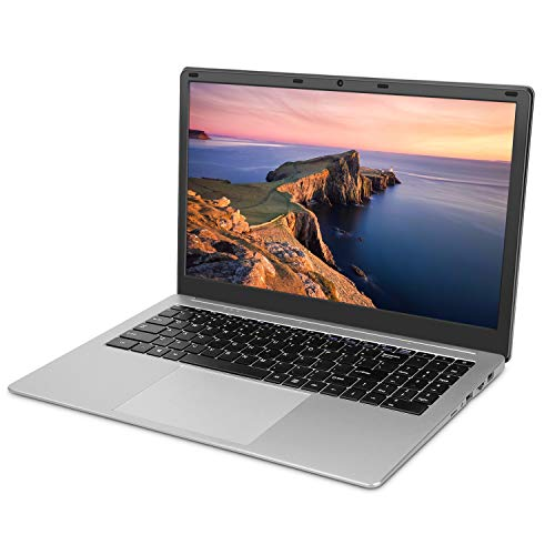 YELLYOUTH Laptop 15.6 inch Notebook Intel Quad Core 6GB RAM 120GB SSD Full HD Display with WiFi Mini HDMI Windows 10 Laptop Computer Silver