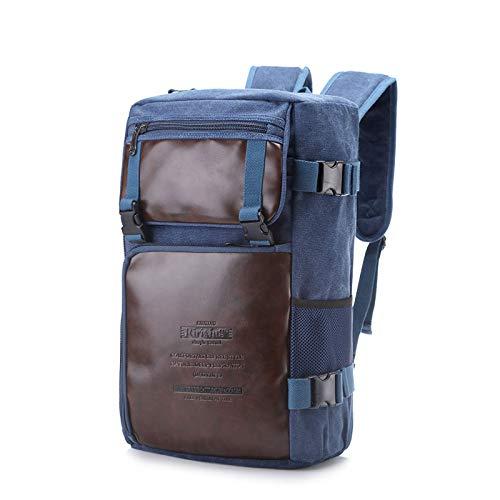 Nuovo zaino uomo e donna borsa boutique in tela con borsa in pelle può essere utilizzato spalla spalla diagonale zaino blu