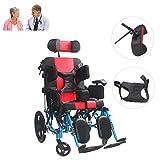 Leichter Klappbarer Cerebralparese-Rollstuhl Mit Sicherheitsgurten, Verstellbarer Kopfstützen-Transportstuhl Aus Aluminiumlegierung Für Ältere Und Behinderte Menschen