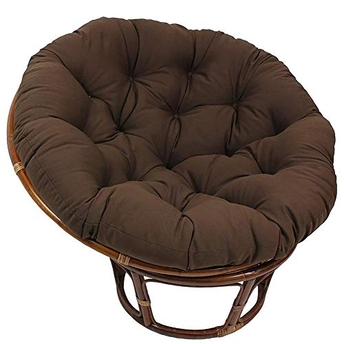 genialkiki Hanging Chair Cushion Without Stand, Thick Comfortable Swing Seat Cushion Round Fluffy Soft Swing Chair's Cushion for Indoor Outdoor Patio Yard Garden, Include Only Cushion