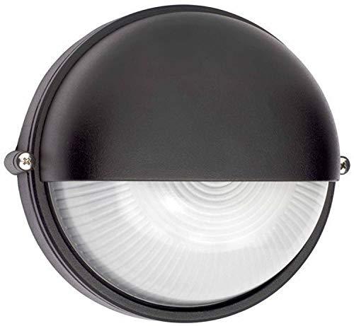 Brilliant 96107/06 Tweety - Lámpara de exterior (1 bombilla E27 de máx. 53W, metal y cristal), color negro