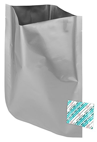 Dry-Packs Mylar Bags and 300cc Oxygen Absorbers – 10″ x 14″ – 1 gal. – Set of 50