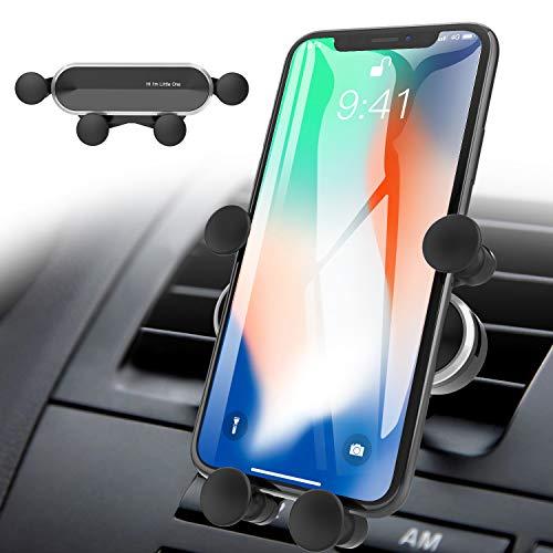 ICHECKEY Soporte para Teléfono Celular para Automóvil, Soporte Móvil para Coche, Movil Coche para Rejillas del Aire de Coche para iPhone 12 Pro / 11 / XS/XR/X/8/7, Galaxy S20 / S10 Plus