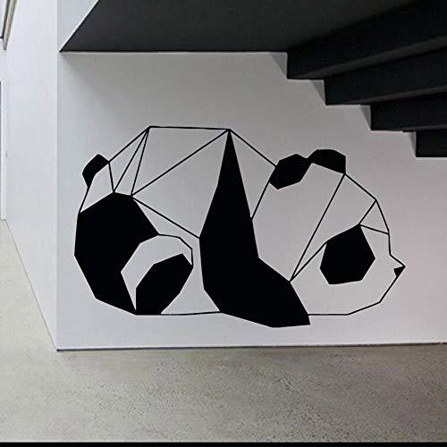 Tianpengyuanshuai Panda Wandtattoo Vinyl Wandaufkleber Wohnzimmer geometrische Linie Muster Wanddekoration Schlafzimmer 42X68cm