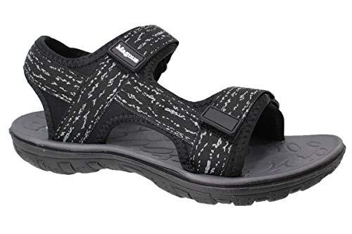 Herren Outdoor Sandalette   Sandale Sommerschuhe   Trekkingsandale Wandersandale   Komfort Klettverschluss Slipper Schuhe (42 EU, Schwarz)