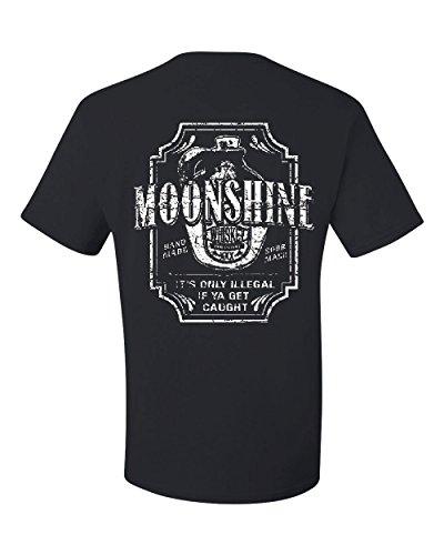 Moonshine Tennessee Whiskey T-Shirt Smoky Mountain Tee Shirt Black L