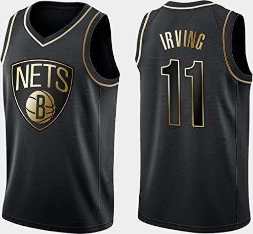 WSUN Ropa De Baloncesto para Hombres NBA Brooklyn Nets # 11 Kyrie Irving Baloncesto Jersey Vintage Cool Tejido Transpirable All-Star Unisex Fan Uniform,A,XL(180~185CM/85~95KG)