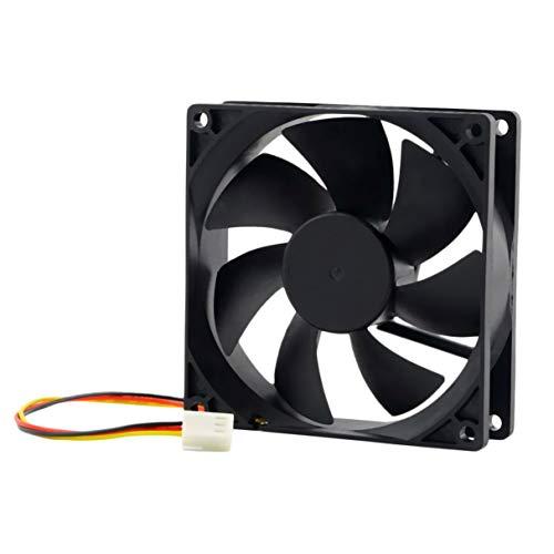Morninganswer 12V 3-Pin 9cm 90 x 25mm 90mm CPU Disipadores de Calor Ventilador Enfriador DC Ventilador de enfriamiento 65 CFM Rápido Gratis