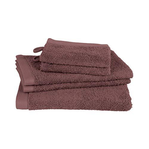 Juego de toallas de baño Clarysse de 5 piezas, juego de toallas de baño de calidad superior, 100% algodón peinado, calidad de hotel, set de baño, marca belga 500 g/m2, bayas