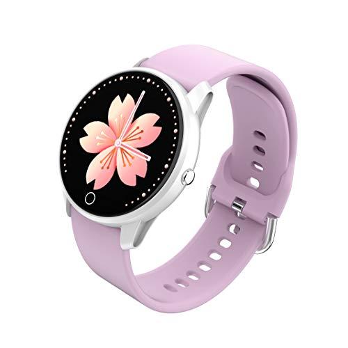 BIGCHINAMALL Relojes Inteligentes Pulsera Actividad Smartwatch Mujer (Púrpura)