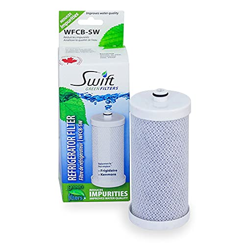 SGF-WF1CB Replacement water filter for WFCB,WF1CB, 240394501, NGRG-2000, RF-100, RG-100, 218710901, 218710902 Kenmore 469910 by Swift Green Filters (1pack)