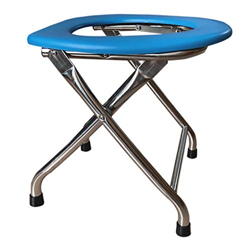 Kunida Designs Portable Folding Commode Chair for Camping - Lightweight Bedside Toilet Seat