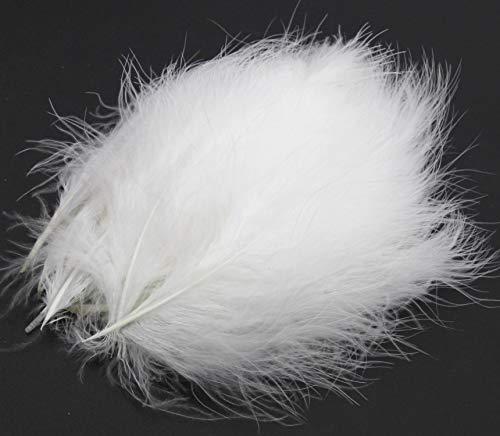 PANAX Truthahnflaum 100 stück ca. 10-17cm Federnlänge Weiß