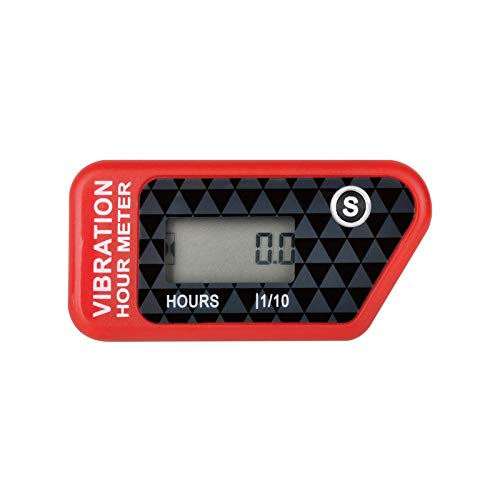 Jayron JR-HM016B LCD Jauge de Compteur Horaire Numérique sans Fil par Vibration Activée,pour Toutes Les Machines Vibrantes,Compresseur d'air,Générateur,Jet Ski,Tondeuse à Gazon,Tronçonneuse