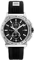 Salvatore Ferragamo Men's 'Ferragamo 1898 Sport' Swiss Quartz Stainless Steel and Rubber Casual Watch, Color:Black...