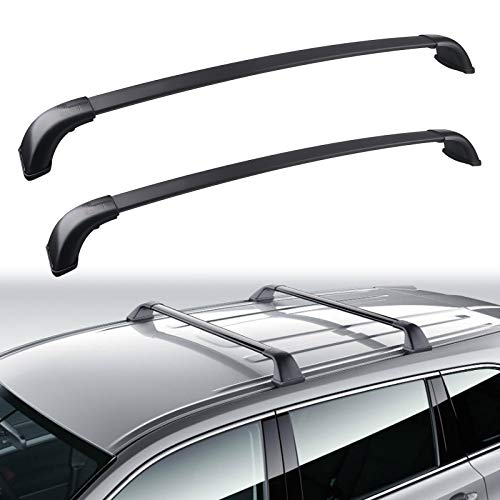 JDMON Compatible with Roof Rack Cross Bars Toyota Highlander 2014 2015 2016 2017 2018 2019 XLE/Limited & SE/LE with Side Rails, Aluminum Luggage Rack for Rooftop Cargo Bag Carrier Kayak Canoe Bike