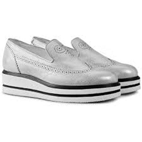 Hogan Slip On Sneakers Donna Hxw3230x780es9b200 Pelle Argento