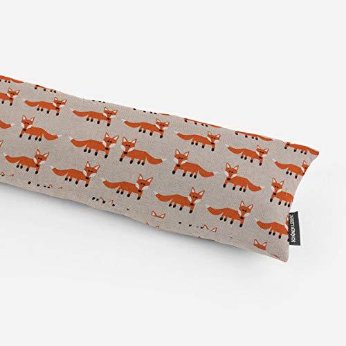 SCHÖNER LEBEN. Zugluftstopper Fuchs Natur orange weiß schwarz Verschiedene Größen, Auswahl:130cm Länge
