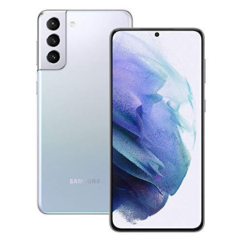 Samsung Smartphone Galaxy S21+ 5G, Display 6.7  Dynamic AMOLED 2X, 3 fotocamere posteriori, 256 GB, RAM 8GB, Batteria 4800mAh, Dual SIM + eSIM, (2021) [Versione Italiana], Argento (Phantom Silver)