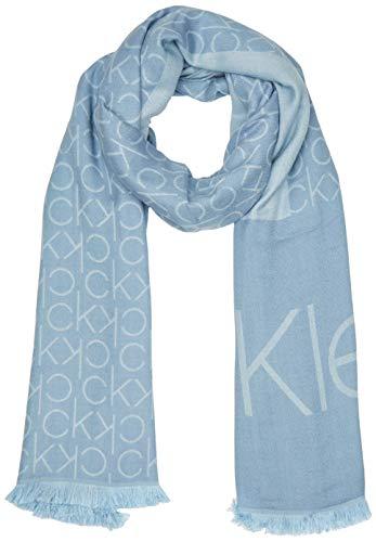 Calvin Klein K60k606081 conjunto bufanda, gorro y guantes, Azul (Stone Blue Cff), Talla única (Talla del fabricante: OS) para Mujer