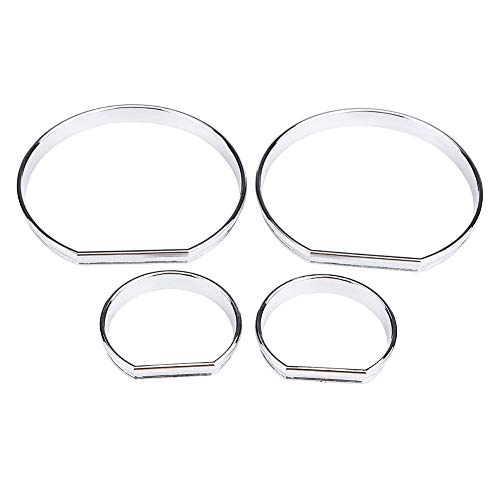 4pcs Car Front Dashboard Speedometer Gauge Decoration Frame Dial Rings Trim for BMW E46