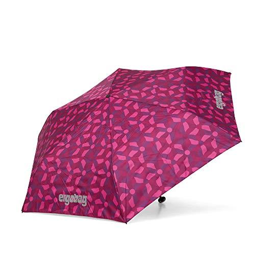 ergobag Regenschirm Schultaschenschirm für Kinder, extra leicht mit Tasche, Ø90cm - NachtschwärmBär, Lila