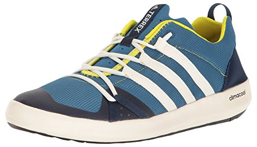 adidas Outdoor Men's Terrex Climacool Boat Water Shoe, Core Blue/Chalk White/Bright Yellow, 13 UK