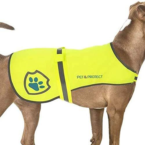 SlipDoctors Premium-Hundeweste, reflektierend, hohe Sichtbarkeit, Sicherheitsweste, Laufen, Joggen, Training, 7 kg - 59 kg (M)