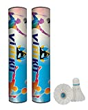 Best Shuttlecocks - VIFITKIT Badminton Shuttlecocks, Goose Feather Birdies with Stability Review