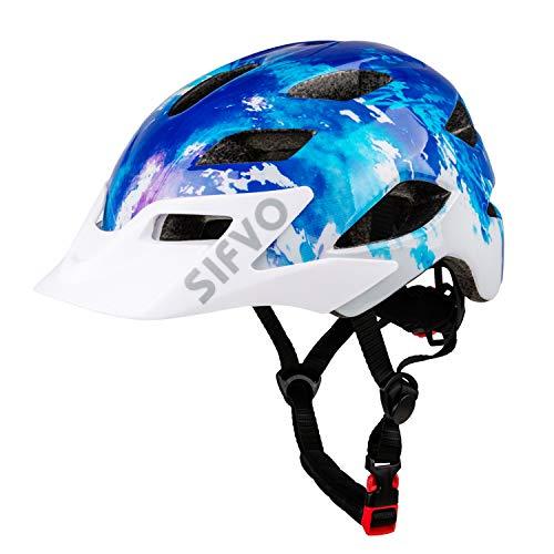 SIFVO Kids Bike Helmet, Youth Roller Skate Helmet,Bicycle Helmets Sports Helmets for Boys and Girls Aged 5-13 50-57cm(navy blue)