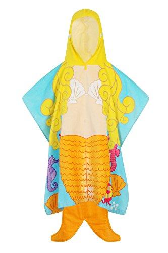 Filles garçons Poncho Serviette Nifty enfants Nouveau pour enfants à capuche Coton de bain de plage et l'usure, Coton, Mermaid, Taille unique
