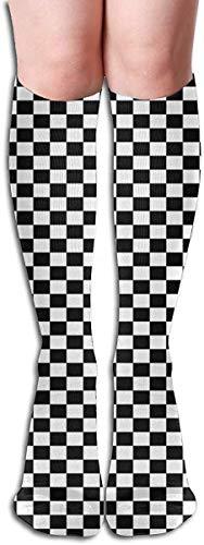 Love girl Resumen Cuadros en blanco y negro Útil como cuadros Calcetines largos hasta el muslo Calcetines hasta la rodilla 50 cm para mujeres Niñas