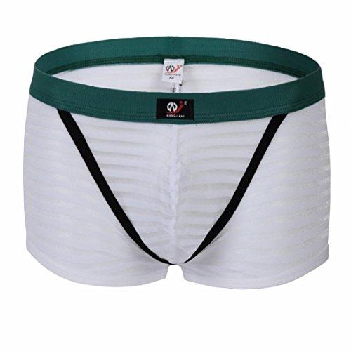 Pochers Mode MäNner WANGJIANG Streifen Weichen Slip Unterhosen Knickerbocker Shorts Sexy UnterwäSche