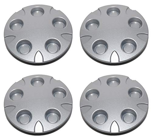 BB Auto Set of 4 New 16 inch Wheel Hub Center Caps Silver Hubcaps Covers Replacement for 1999-2004 Chevrolet S10 / Blazer Xtreme