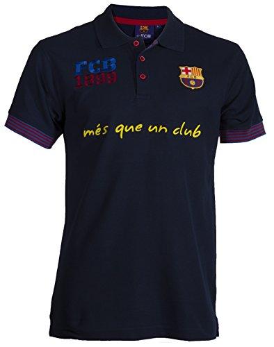Polo da uomo FC Barcelone/Barça, collezione ufficiale, colore: blu, taglia: XXL