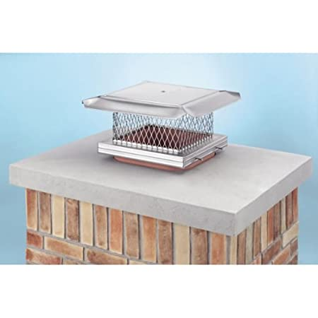 13 X 13 Gelco Stainless Steel Chimney Cap 5 8 Mesh Home Kitchen
