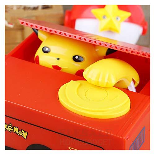 Caja de dinero electrónico de alta calidad La hucha de Pokemon Pikachu roba automáticamente monedas para los regalos de Navidad de cumpleaños de los amigos de los niños