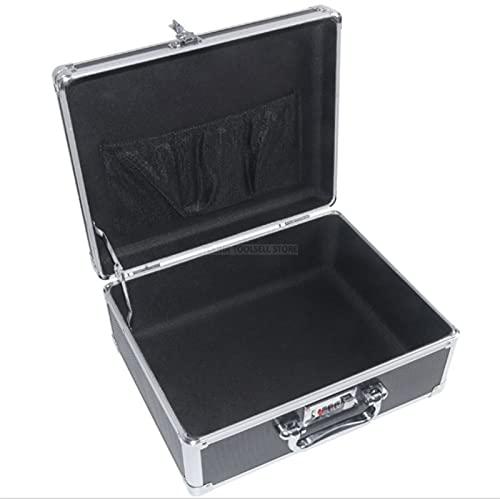 Caja de la herramienta de aluminio Maleta Maleta de archivo Caja de seguridad Resistente al impacto Equipo de caja de herramientas Caja de instrumentos con herramientas de espuma precortadas Caja de m