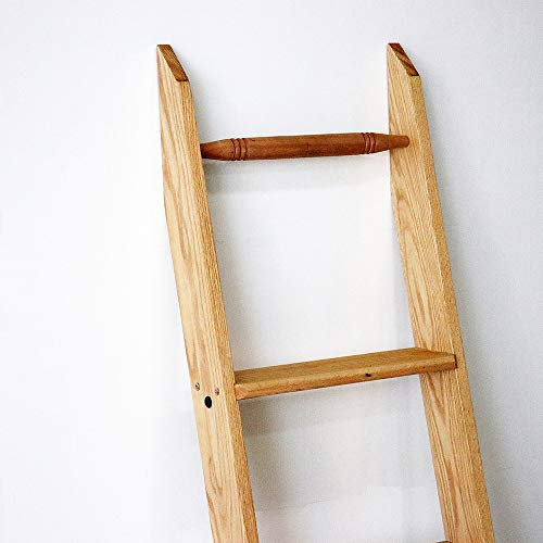 Quite Guide Library Ladder Kit Wooden Ladder 8 Foot 9 Foot 10 Foot Red Oak Unassembled (8' Whole Length)
