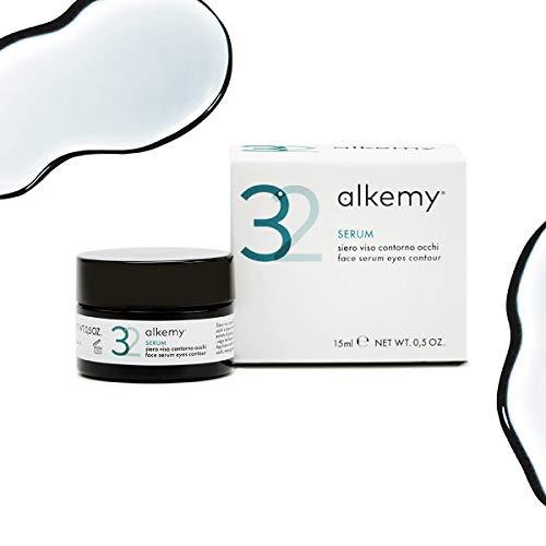 ALKEMY Crema Contorno de Ojos – para Bolsas debajo de los ojos y Ojeras – efecto Botox-like con Ácido Hialurónico - Crema Antiarrugas Dermatológicamente Testado – Eye Cream 3.2