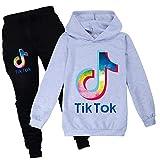 Ropa de suéter para niños Conjuntos TIK Tok Sudaderas y pantalones para niños y niñas