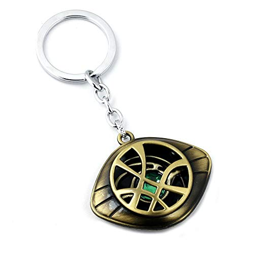 Marvel-Inspired Doctor Strange Necklace - Eye of Agamotto Alloy Key Chain Pendant (Bronze)