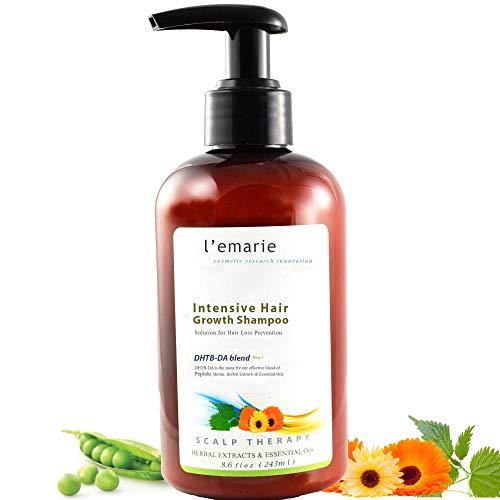 L'emarie Hair Growth And Thickening Shampoo, Anti-Dandruff Treatment, Anti-Hair Loss, Thicker, Fuller, Healthier Hair for Men & Women 8.6 oz