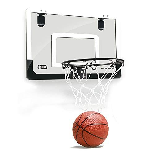 YXQQ Innen-Mini-Basketball-Reifen bruchsicherer Rückkörper, Türwand-Kugelschreiber, transparentes Design, Weihnachtsgeburtstagsgeschenk, für Kinderjunge Sportübung