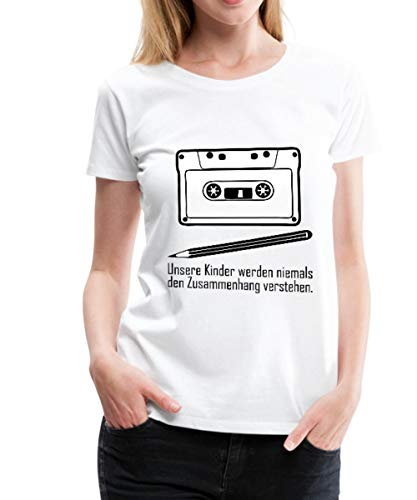 Zusammenhang Tape Bleistift Frauen Premium T-Shirt, M, Schwarz