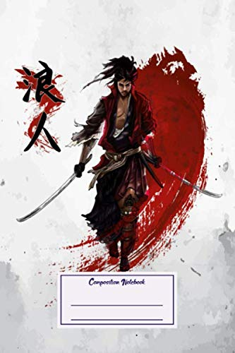Composition Notebook: Japanese & Asian Ronin Samurai Japanese (Composition Notebook, Journal) (6 x 9)